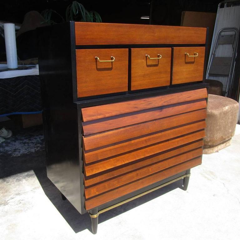Vintage american of martinsville highboy dresser at 1stdibs for Vintage american martinsville bedroom furniture