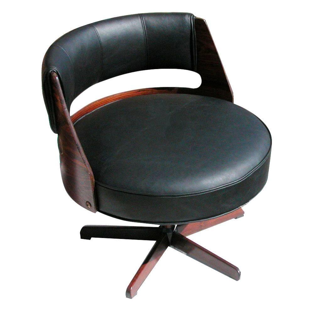 Vintage Scandinavian Galvano Rosewood Lounge Chair For Sale at 1stdibs