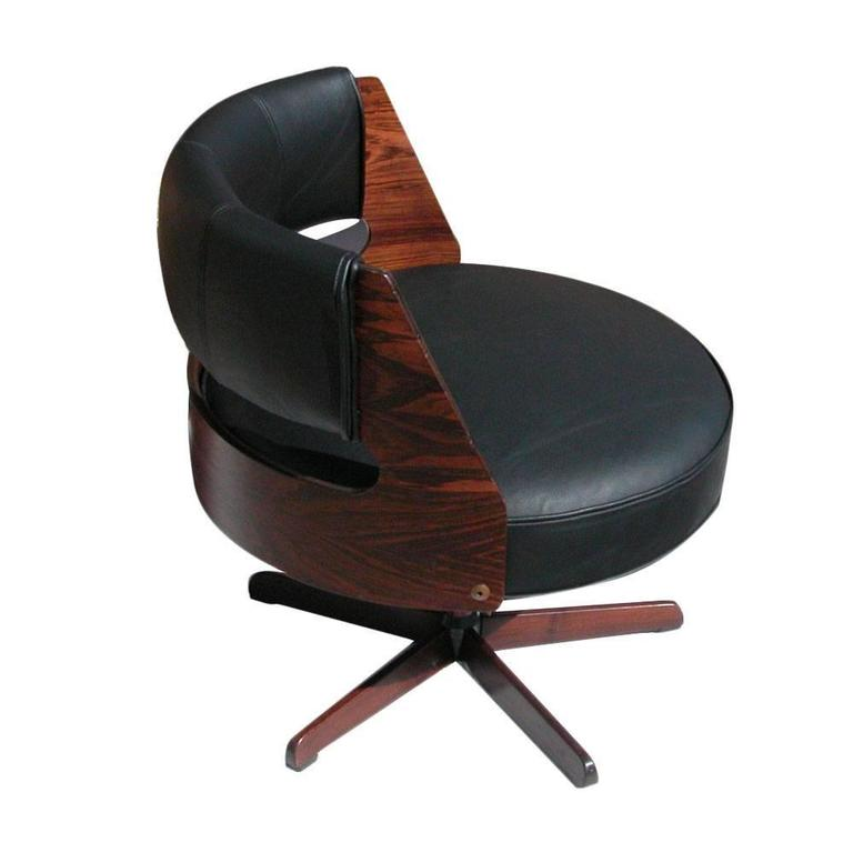 Vintage Scandinavian Galvano Rosewood Lounge Chair 2
