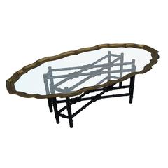 Baker Faux Bamboo Coffee Table