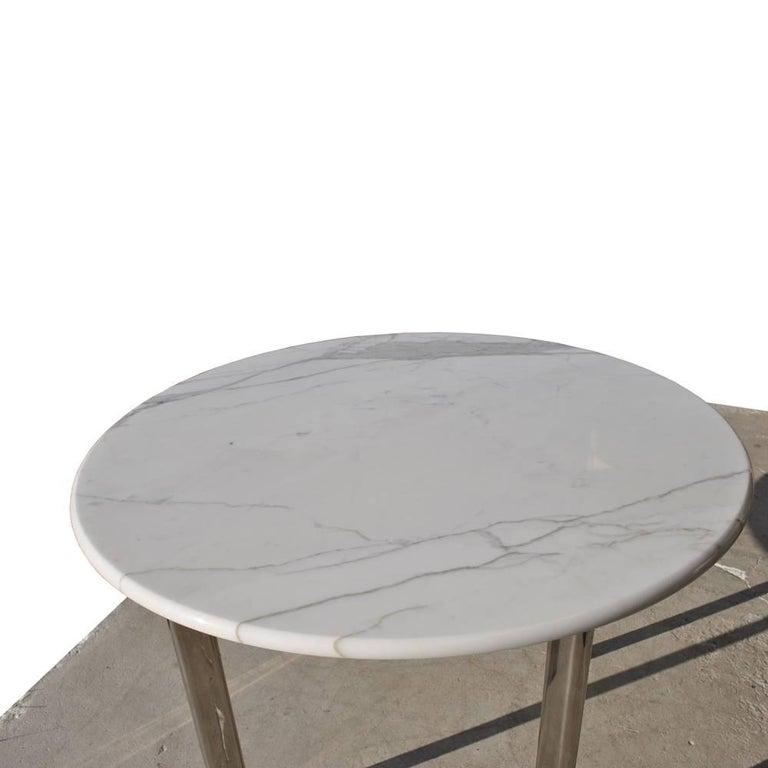 Joe D Urso For Knoll Carrara Marble Table At 1stdibs