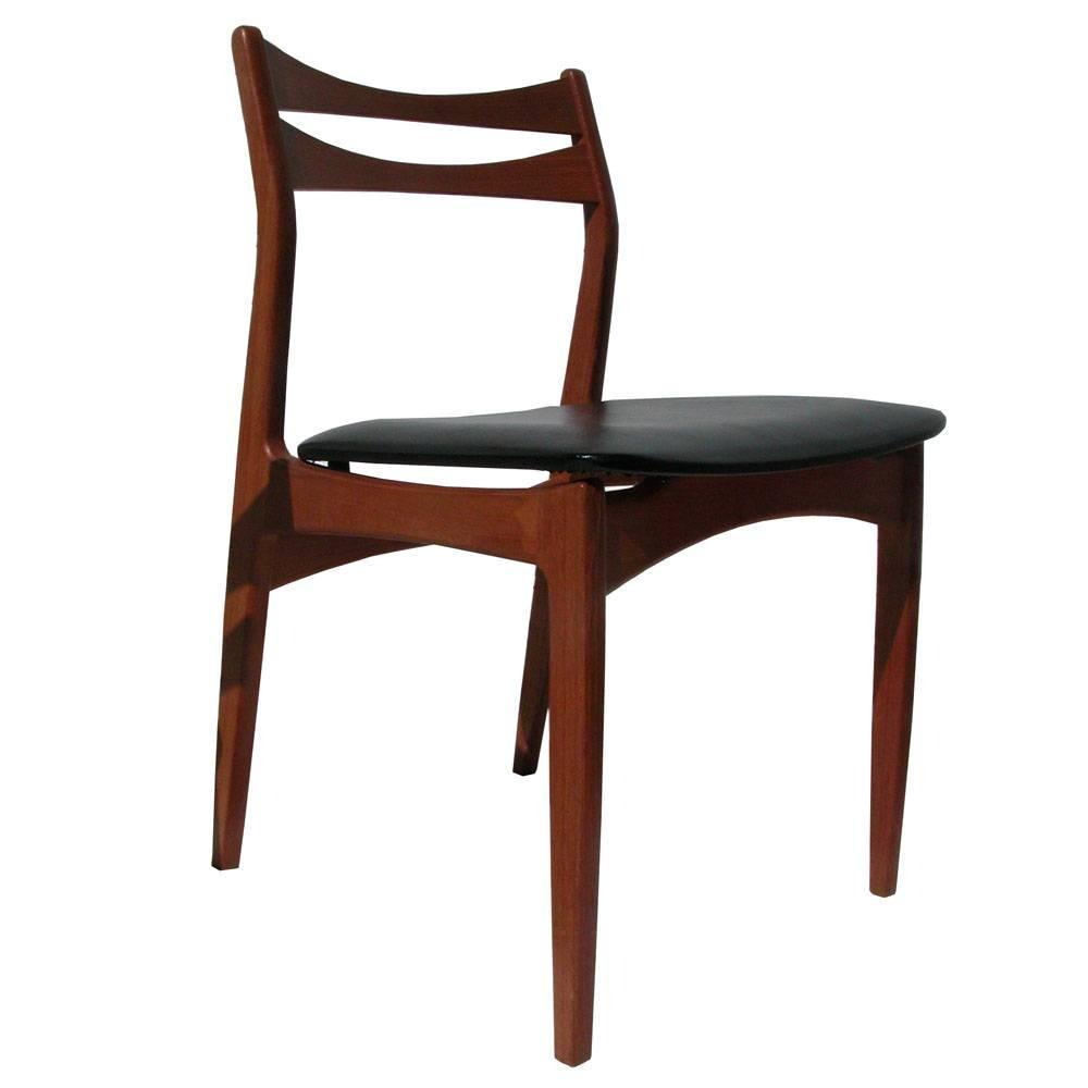 Vintage danish modern teak dinning chair for sale at 1stdibs for Retro modern dining chairs