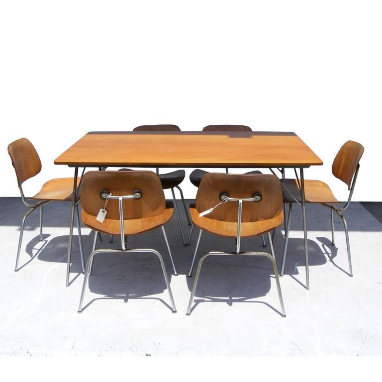 Phenomenal Early Herman Miller Eames 54 W Dtm 20 Dining Table 6 Dcm Pabps2019 Chair Design Images Pabps2019Com