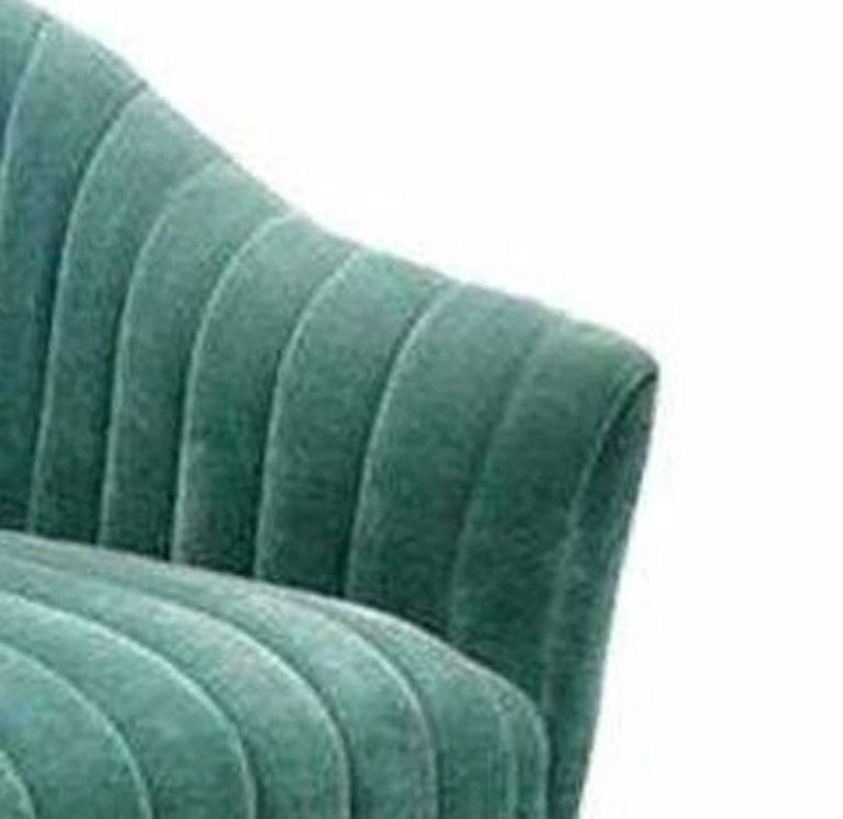American 1 Ward Bennett For Brickell Green Mohair Lounge Chair  For Sale