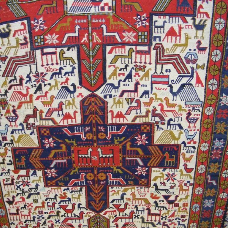 Vintage Kilim Handwoven Persian Rug At 1stdibs