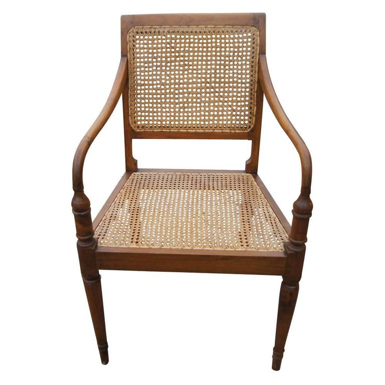 West Indies Dining Room Furniture: Vintage West Indies Style Woven Cane Chairs At 1stdibs