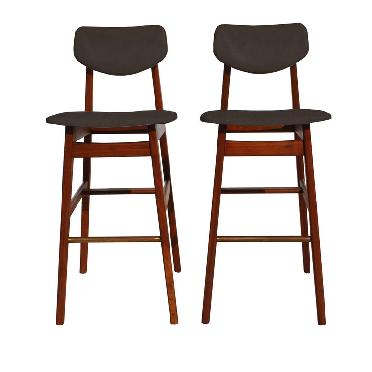 Admirable Pair Of Rare Jens Risom Stools Pdpeps Interior Chair Design Pdpepsorg