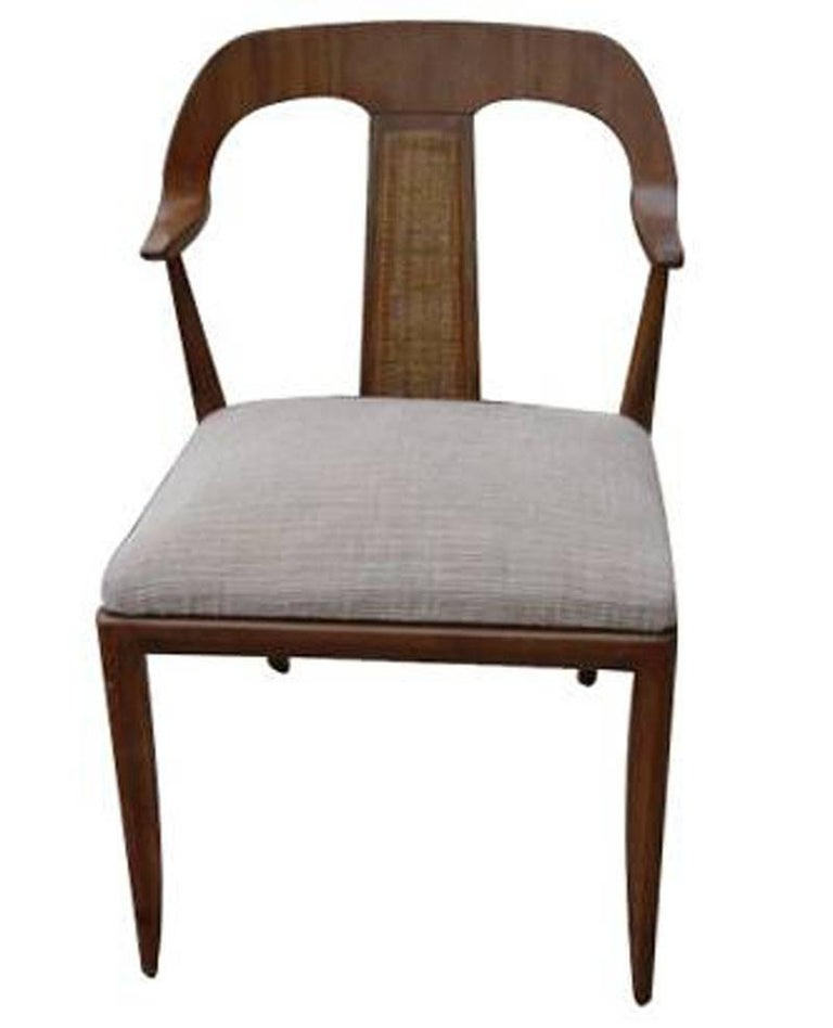 Mid-Century Modern Set of Four Vintage Danish Style Side Dining Chairs For Sale