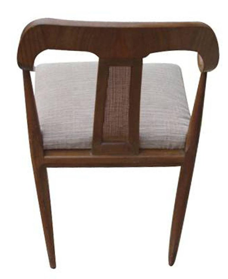 Set of Four Vintage Danish Style Side Dining Chairs For Sale 1