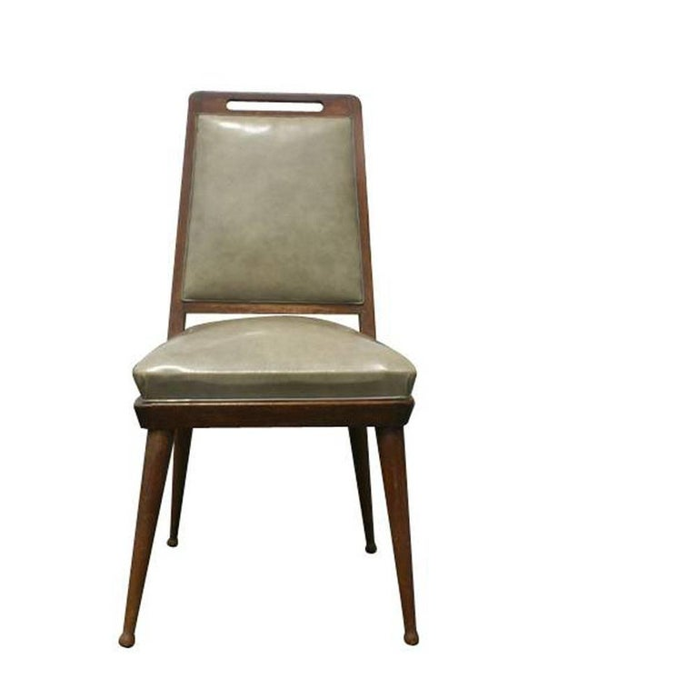 6 Italian Mid Century Modern Dining Chairs   In Good Condition For Sale In Pasadena, TX