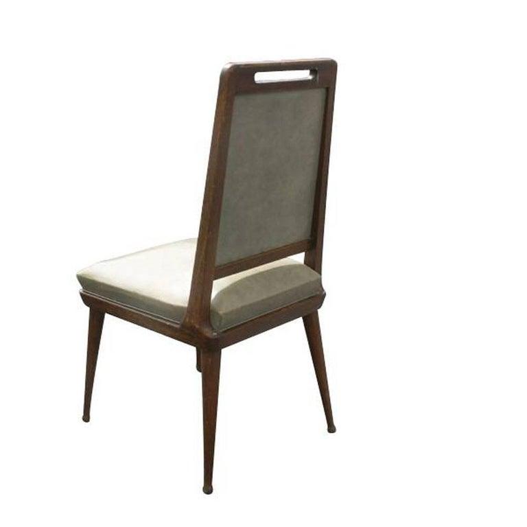 European 6 Italian Mid Century Modern Dining Chairs   For Sale