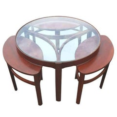 Vintage Midcentury Danish Nesting Coffee Side Tables
