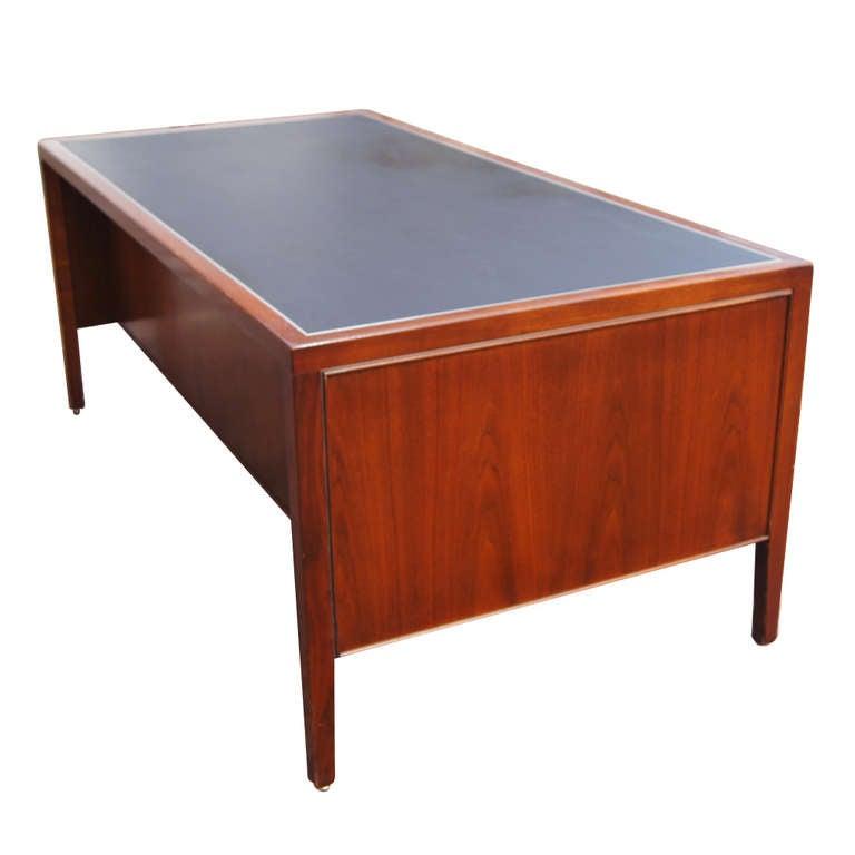 Stow Davis Leather Top Wood Desk