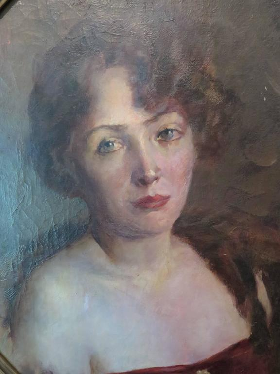 Early 20th Century Portrait of Woman In Excellent Condition For Sale In Houston, TX
