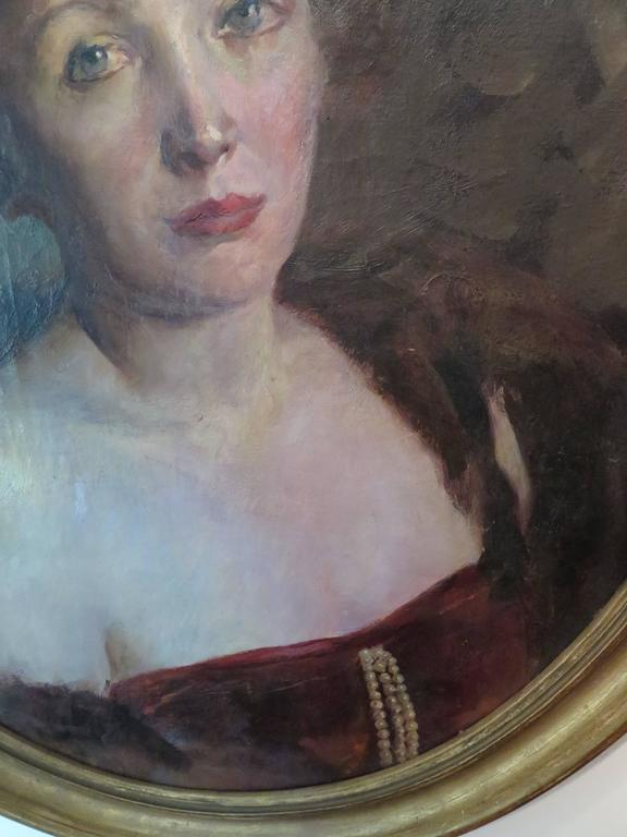 Early 20th Century Portrait of Woman For Sale 1
