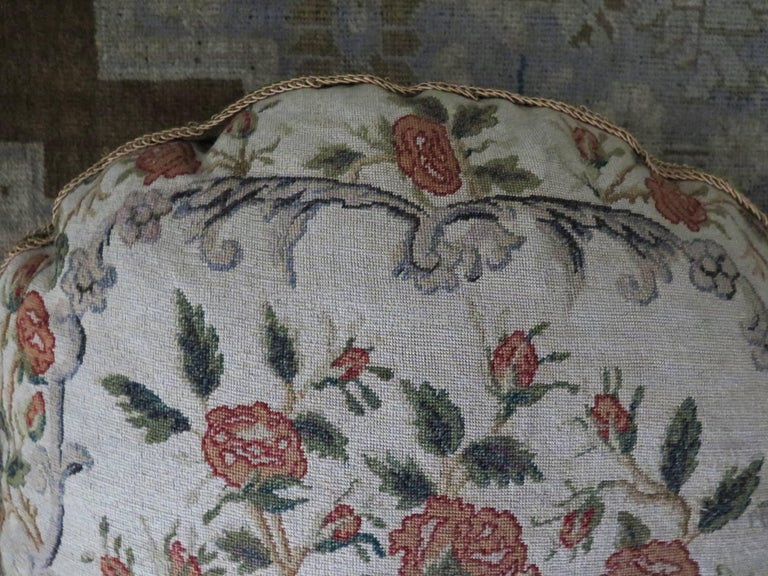 19th Century Needlepoint Pillow For Sale 2