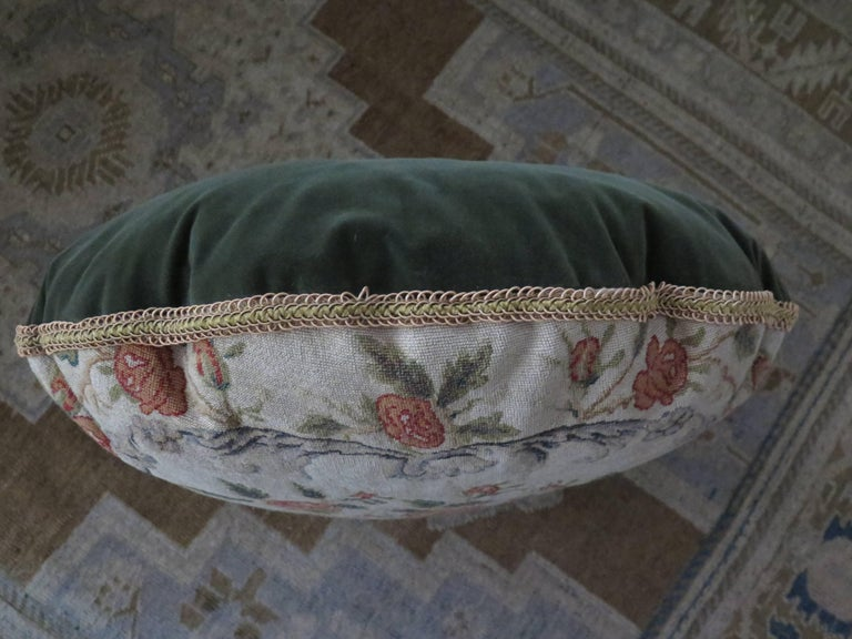 19th Century Needlepoint Pillow For Sale 3