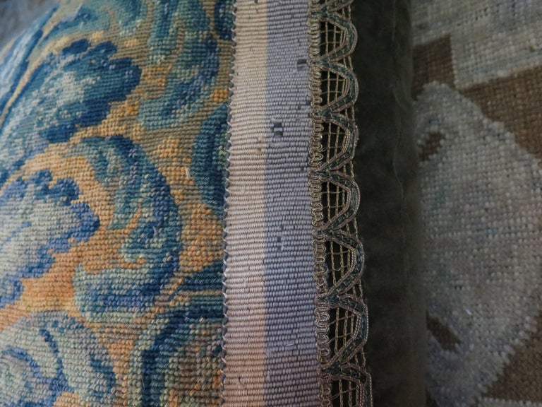 19th Century Large Needlepoint Pillow For Sale 1