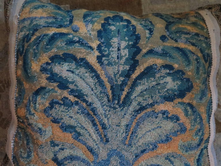19th Century Large Needlepoint Pillow For Sale 2