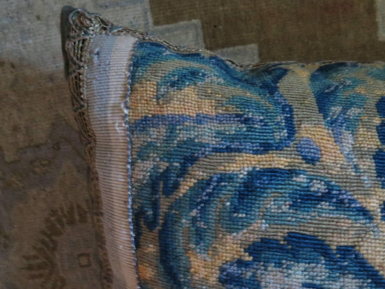 19th Century Large Needlepoint Pillow For Sale 3