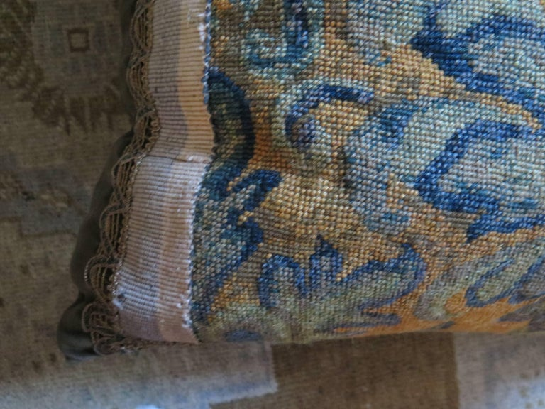 19th Century Large Needlepoint Pillow For Sale 4