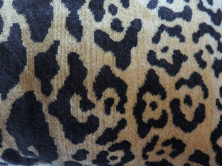 Scalamandré Leopard Silk Velvet Pillows For Sale 1