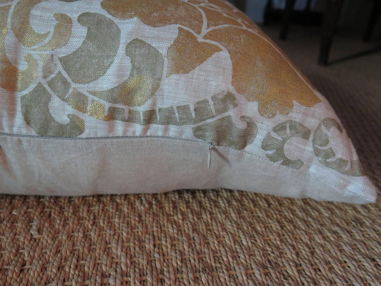 Italian Venetian Linen Pillow For Sale