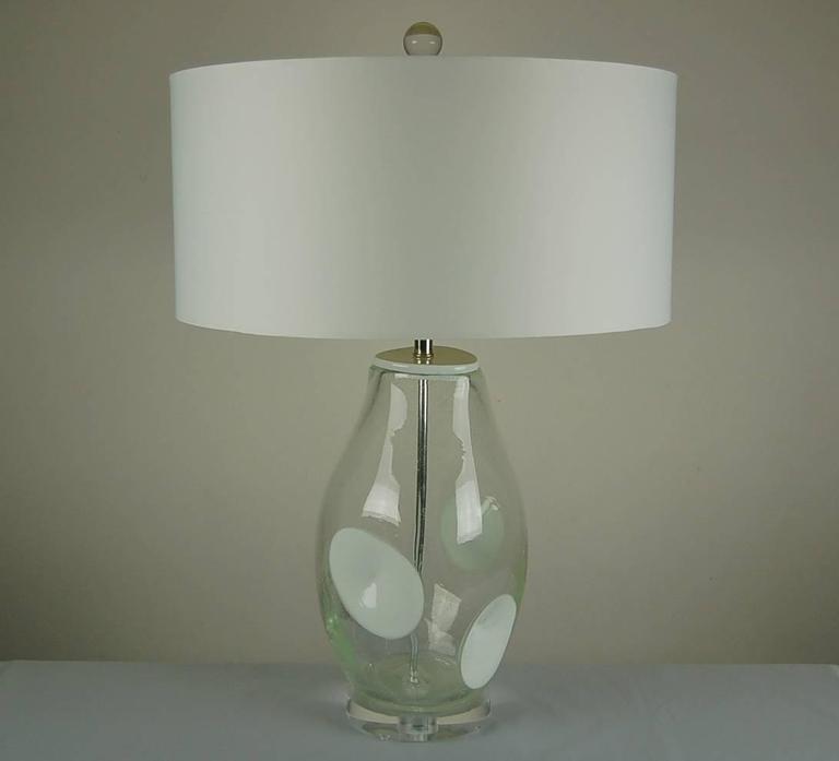 of vintage hand blown pulegoso art glass lamps for sale at 1stdibs. Black Bedroom Furniture Sets. Home Design Ideas