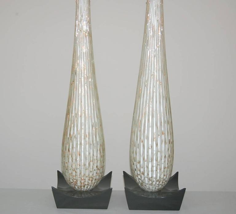 White Murano Vintage Teardrop Table Lamps For Sale At 1stdibs