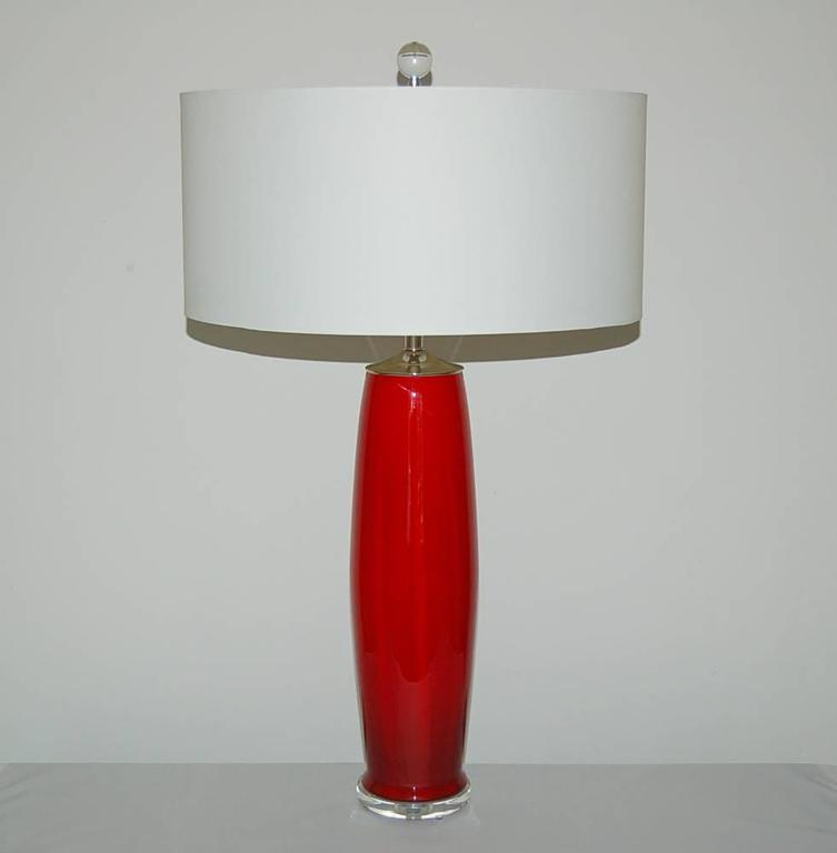 red murano vintage italian table lamps for sale at 1stdibs. Black Bedroom Furniture Sets. Home Design Ideas