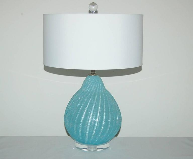 blue murano vintage italian table lamps for sale at 1stdibs. Black Bedroom Furniture Sets. Home Design Ideas
