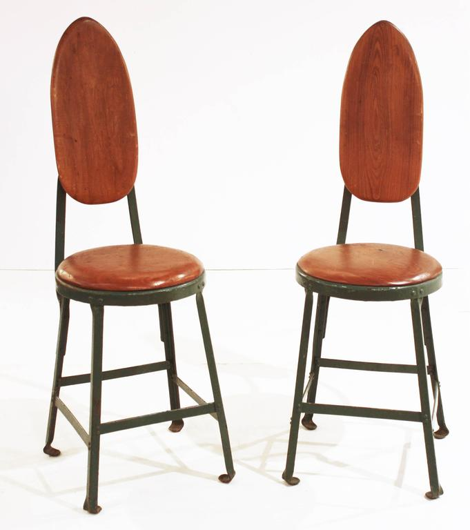 Pair of Mid-Century Modern French Side Chairs In The Style of Jean Prouve In Good Condition For Sale In Dallas, TX