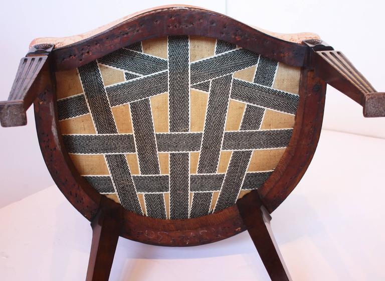 George III Mahogany Open Armchair For Sale 1