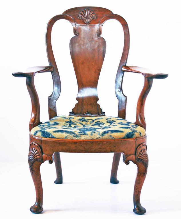 18th Century George I Walnut Armchair 3