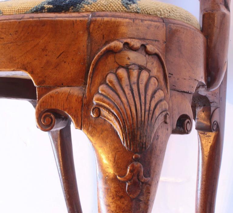 18th Century George I Walnut Armchair 7