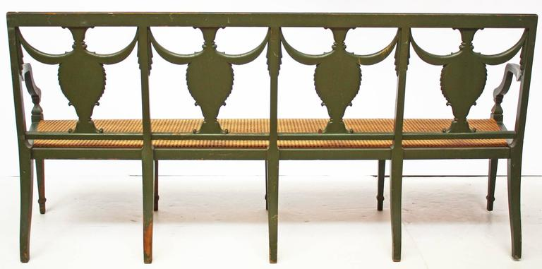 Painted Federal Style Settee by A.H. Davenport Company For Sale