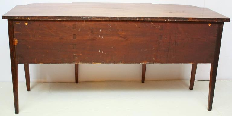 18th Century and Earlier English Georgian Sideboard of Bookmatched Flame Mahogany with Boxwood Stringing For Sale