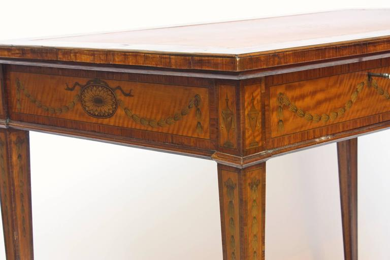 Sheraton style satinwood writing table at 1stdibs for What is sheraton style furniture