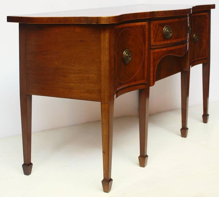 English George III Mahogany Inlaid Sideboard For Sale