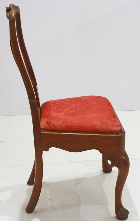Carved George II Side Chairs/Group of Five For Sale