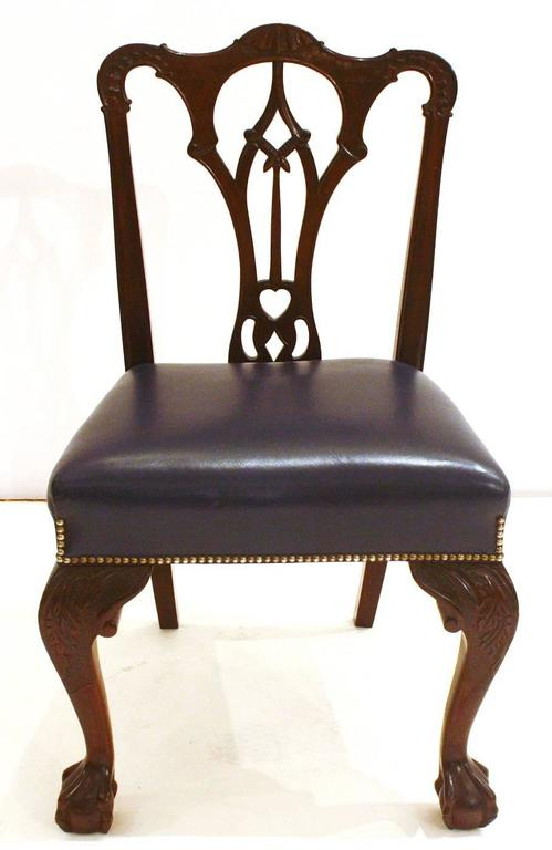 English Irish George II Style Side Chairs / Set of Fourteen For Sale