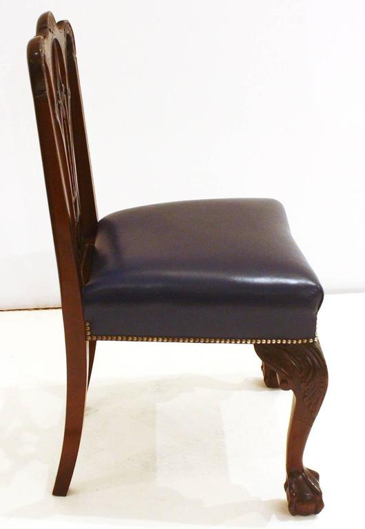 Irish George II Style Side Chairs / Set of Fourteen In Good Condition For Sale In Dallas, TX
