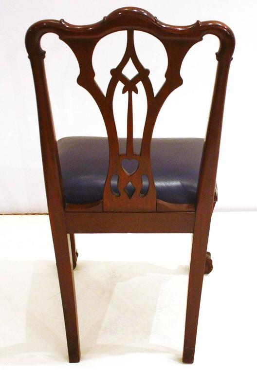 20th Century Irish George II Style Side Chairs / Set of Fourteen For Sale