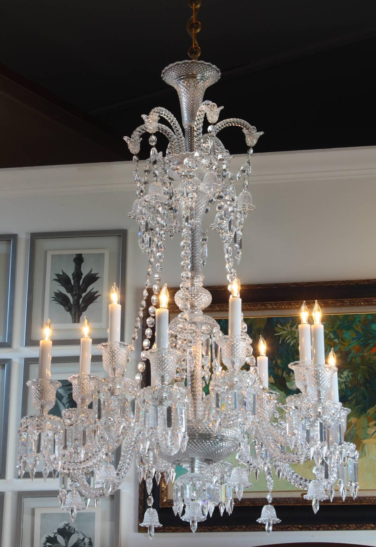 Philippe starck for baccarat zenith long twelve light chandelier philippe starck for baccarat zenith long twelve light chandelier at 1stdibs arubaitofo Gallery