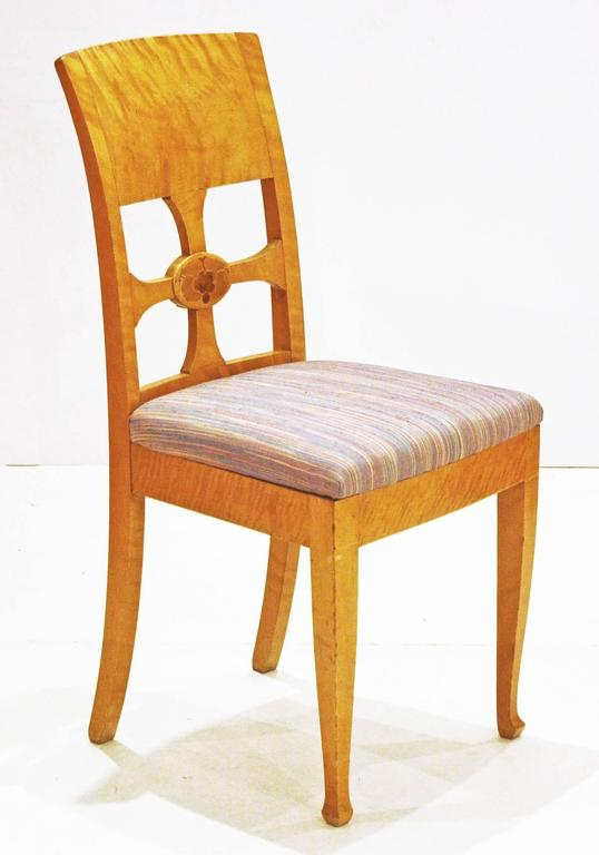 Art Deco Set of Six Chairs by Anton Kjaer, Copenhagen For Sale