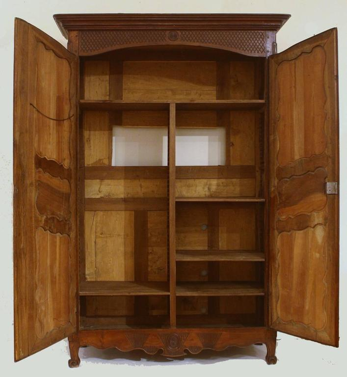 Louis XV Large 18th Century French Walnut Armoire For Sale