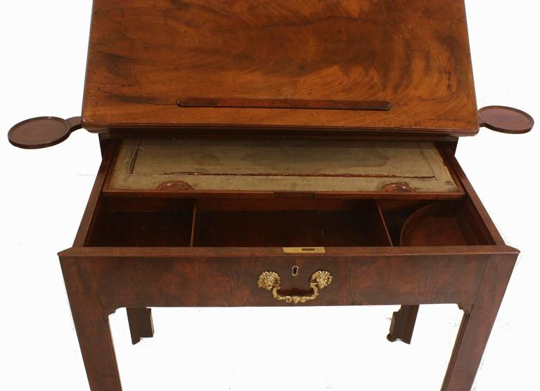 English 18th Century George III Architect's Desk / Adjustable Drawing Table For Sale