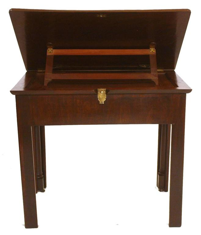 Turned 18th Century George III Architect's Desk / Adjustable Drawing Table For Sale