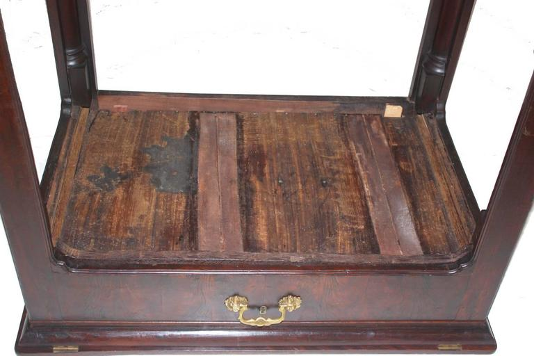 Baize 18th Century George III Architect's Desk / Adjustable Drawing Table For Sale