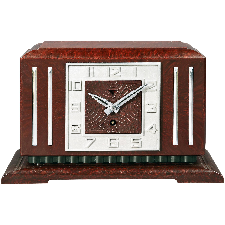Bakelite Art Deco Mantel Clock by JAZ